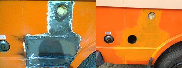 VW LT Camper Sidewall Repair