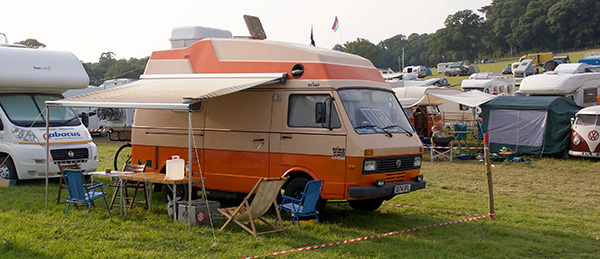 VW LT Camper In Cornwall At The Port Eliot Festival