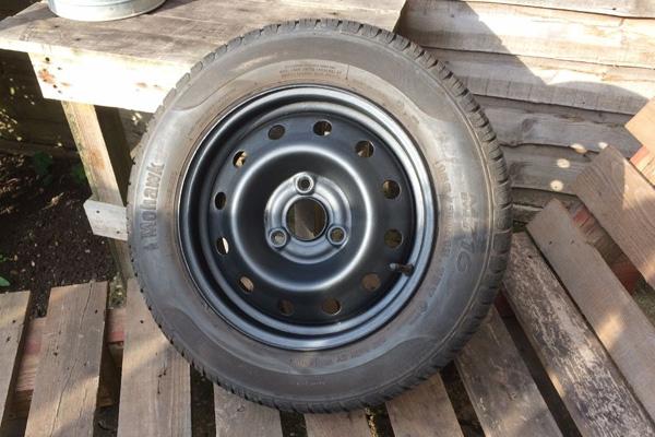 Citroen AX   Wheel Refurbished Matte Black Paint   Three Stud   Glenn Jobson   Cambridge