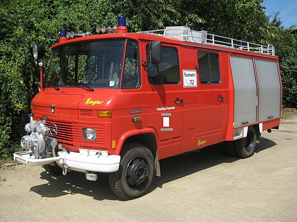 Feuerwehr from Düsseldorf | Fire Engine Camper Van Conversion | Mercedes Benz 608D | Van Life UK